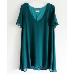 Show Me Your Mumu Emerald Green Shift Dress
